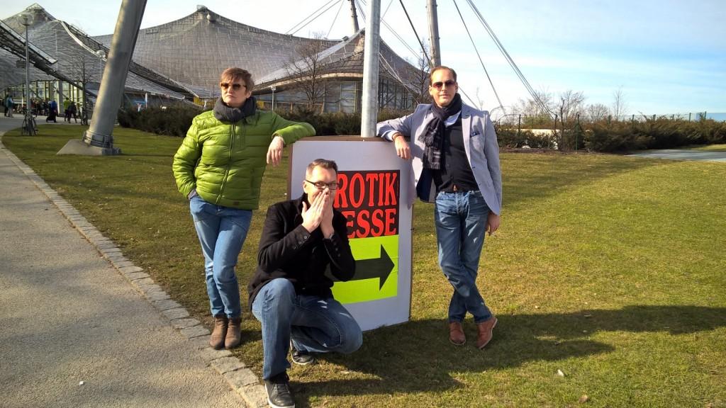 on tour: Verlegerin Beate Kuckertz, Programmleiter Timothy Sonderhüsken, Vertrieb- und Marketingleiter Marco Feuchter (v.l.n.r.)