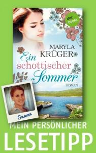 Mein persönlicher Lesetipp Susi Krüger Schottischer Sommer