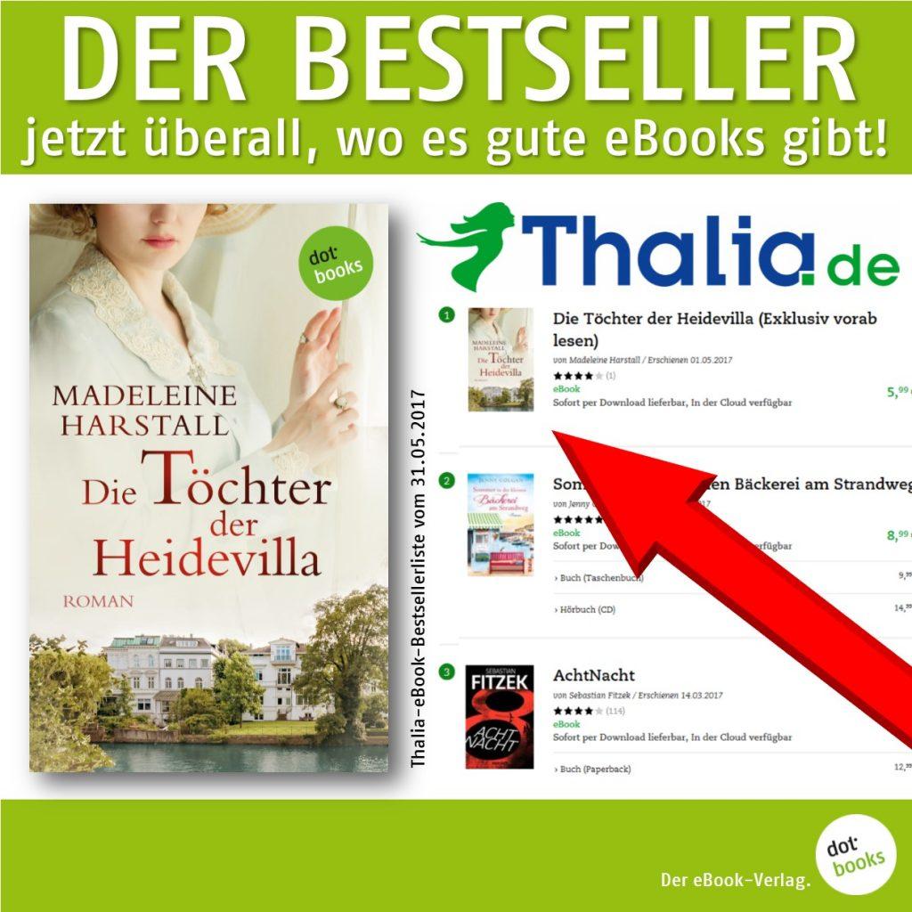 Harstall, Thalia-Bestseller DIE TÖCHTER DER HEIDEVILLA
